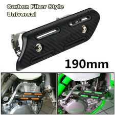 Black Motorcycle Mid Exhaust Muffler Silencer Protector Guard Cover Heat Shield