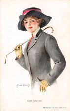 "F Earl Christy~Lovely Lady in Riding Habit~Crop~""Come With Me?"" R&N No 172"