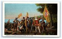 Postcard Landing of Columbus on San Salvador, Oct 12 1492 C15