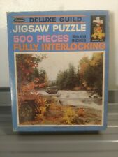 Vintage Whitman 500pc Puzzle Rapids In Autumn Complete