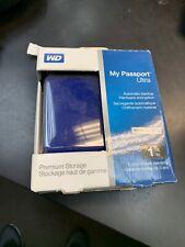 Western Digital 1TB My Passport Ultra USB 3.0 Secure Portable External Hard Blue