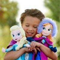 2pcs/set Frozen Princess Elsa/Anna Toys Soft Stuffed Plush Doll Kids Gift Toys