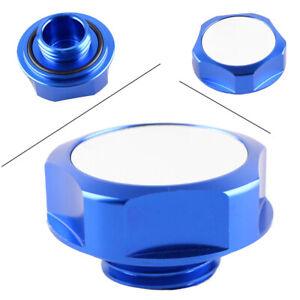 Engine Oil Filler Cap Fuel Tank Cover Nismo Billet Fit Nissan Models JDM Blue