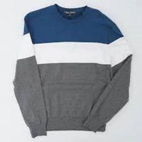 Slate /& Stone Crew Neck blue white medium Pullover Sweatshirt ing7