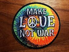 MAKE LOVE NOT WAR Peace Sign Embroidered Patch Iron On Or Sew