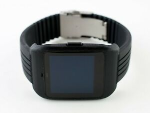 Sony SmartWatch 3 SWR-50 housing/adapter with black silicone diver strap