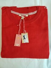 Ladies Womens White Stuff Jumper Top Wool Cotton Knit Sweater Red Teal Size