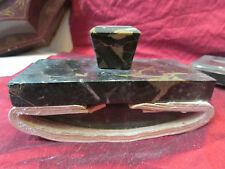 ancien tampon buvard en marbre portor epoque art deco 1930 bureau