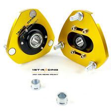 FOR 01-05 Honda Civic EP3 EM2 Front Adjustable Camber Coilover Top Mount Plates