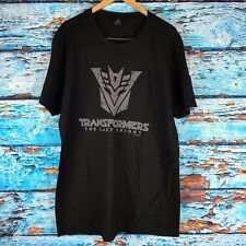 Transformers The Last Knight Cinemacon Short Sleeve Promo T-Shirt Large Black