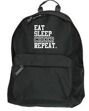 Eat Sleep Cheer Repeat kit bag backpack ruck sack leader