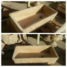lavabo lavello acquaio in pietra  cemento e  polvere di marmo mortaio rustico