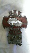 ROVER P6 Badge OWNERS CLUB ENAMEL CAR BADGE C1960S-70S VINTAGE
