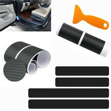 For D-MAX 4D M Car Pedal Covers Door Sill Protectors Entry Guard Scuff Plate Trims Anti-Scratch Reflective Carbon Fiber Stickers Auto Accessories Exterior Styling 4Pcs Red