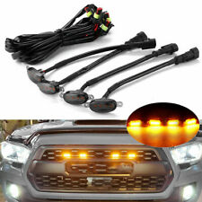 4PCS Smoked Lens Front Grill Grille LED Lights Lamp Kit For Ford F-150 Raptor UK