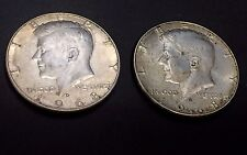 KENNEDY 1968 SILVER Half Dollar LOT of ( 2 ) Circulated (40% Silver) FREE SHIP