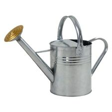 Ambassador Garden Metal Galvanised Traditional Plant Watering Can - 1 Gallon/5L