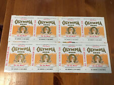 New listing 4 Vintage Olympia Wa Beer Brewery Flat Can 50s-60s Pale Export Unrolled Rainier