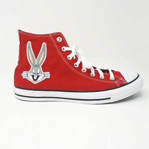 Converse Bugs Bunny Chuck Taylor All Star Hi 169224C Shoe Sneaker Red Men's Size