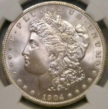 1904 O MORGAN SILVER DOLLAR GORGEOUS GEM+++ RARE NGC MS 67 TOP POP FINEST KNOWN