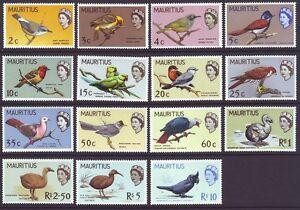 Mauritius 1965 SC 276-290 MH Set Bird