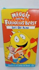 Maggie and the Ferocious Beast Let's Get along VHS tape used works used
