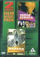 , 2 DVD Film Wildlife Pack - India/Africa + Africa, New, DVD
