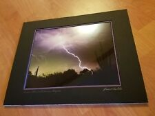 Louis Cantillo photography Monsoon storm Arizona Matted New Ready for Frame