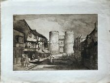 Reduced Beautiful Antique Print: York By Alex Smith 1916