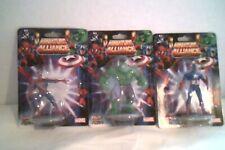 Set of 3 MINIATURE ALLIANCE - Spiderman - Hulk - Captain America