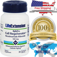 NAD+ Cell Regenerator Nicotinamide Riboside 100mg Life Extension 30 Capsules