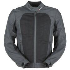 Furygan Genesis Mistral Evo Vented Mesh Summer Motorcycle Jacket - Grey / Black