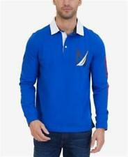 Nautica Heritage Rugby Polo Shirt Long Sleeve Blue Mens XL New