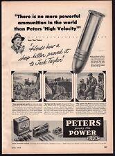 1948 PETERS High Velocity .22 Ammunition Vintage PRINT AD Ammo Advertising