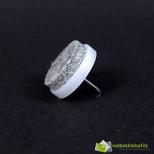 17mm Brillo Blanco Fieltro Estable Calidad Profesional Deslizador Clavos 17