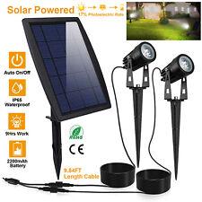 LED Twin Solar Spot Lights Adjustable Landscape Garden Lawn Lamps Waterproof