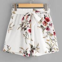 Fashion Womens Ladies High Waist Summer Casual Floral Beach Hot Pants Shorts