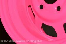 1 lb. FLUORESCENT NEON PINK Powder Coating Powder (ONE COAT)