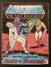 Amos del universo he-man Vs tenebroso templo de oscuridad Mini Comic 1983