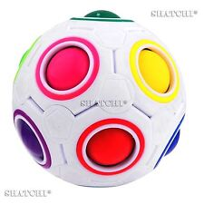 2 Fidget Ball Rainbow Magic Puzzle rubiks Cube Fidget Toy Stress Relief Gifts UK