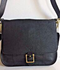 NWT Fossil Becca Crossbody Leather Handbag Black