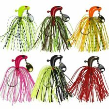 6pcs Fishing Lures Set W/ Silicone Skirt Buzzbait Lead Head Bass Trout Jig Lure