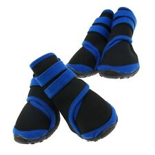 Two Pairs Waterproof Pet Dog Boots Protective Rain Shoes Black Large Size