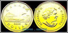 CANADA 2005 CANADIAN NEW LOONIE QUEEN ELIZABETH II BU RARE $1 DOLLAR COIN UNC