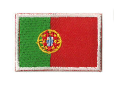 Ecusson patche brodé petit thermocollant drapeau Portugal 45x30 mm