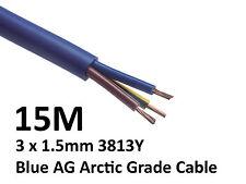 15M Arctic Blue 3183Y Flex Cable 3core x 1.5mm Outdoor Caravan Camping Artic