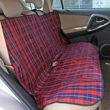 Car Dog Seat Cover Cat Pet Protector Travel Cute Checked Safety Cushion