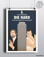 DIE HARD Minimalist Art Movie Poster Minimal Print by Posteritty A4/A3 Card