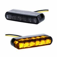 LED Miniblinker universal schwarz getönt Motorrad Quad ATV Roller 12V e-geprüft