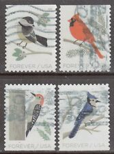Scott #5317-20 Used Set of 4, Birds in Winter (Off Paper)